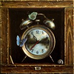 """Time travelers"" 2014 oil on canvas 20x20cm"