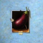 """Still life with eggplant"" 2014 oil on canvas 30x30cm"