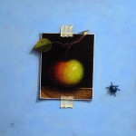 Still life with an apple 2014 oil on canvas 30x30cm